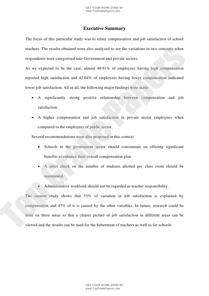 School teacher compensation effect on performance   academic essay assignment - www.topgradepapers.com