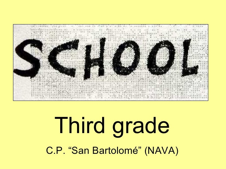 "Third grade C.P. ""San Bartolomé"" (NAVA)"