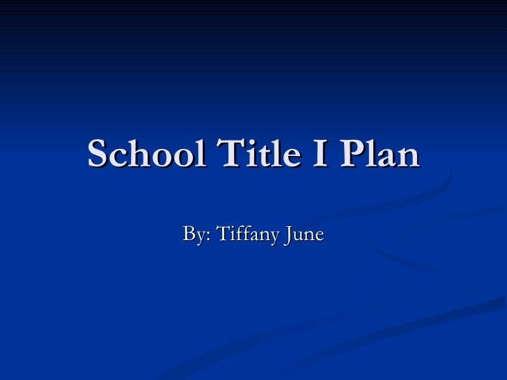 School Title 1 plan final[1]