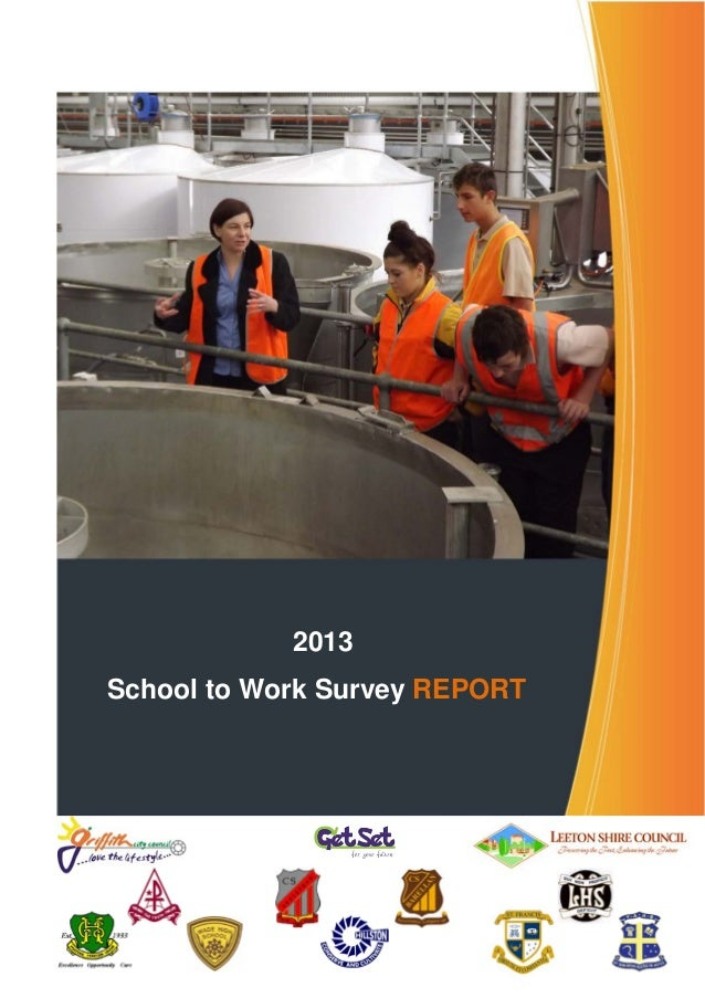 2013 School to Work Survey REPORT