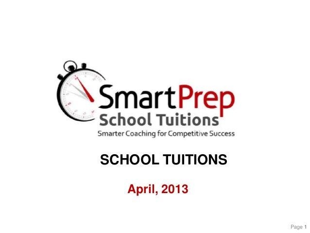 SmartPrep School Tuitions