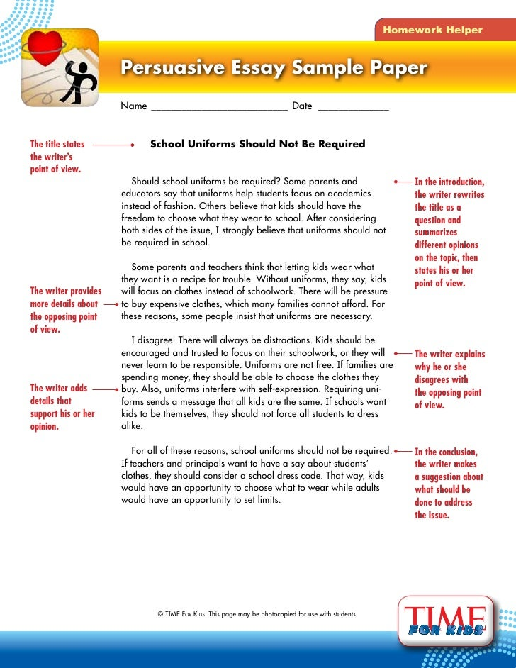 persuasive writing school uniform This is a handout that i produced to assist in the writing of a persuasive letter  about banning school uniform the handout includes arguments for and against, .