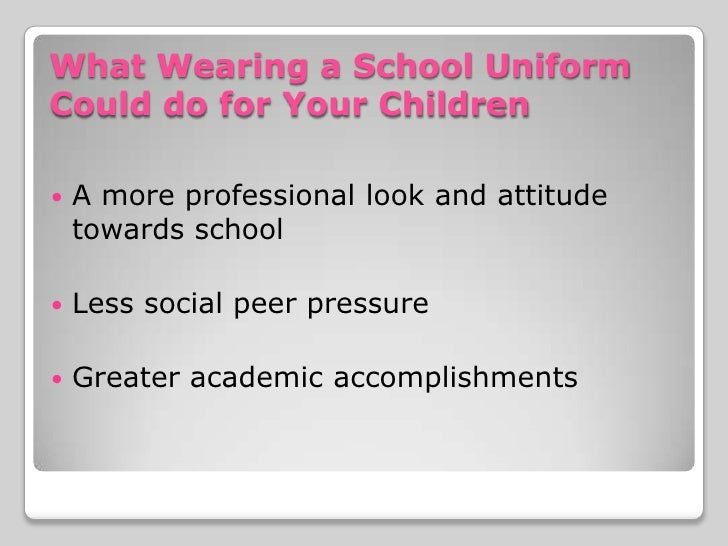no to school uniforms essay