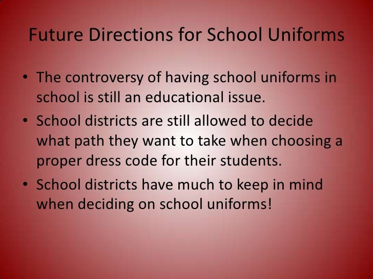 essay on being against school uniforms This page describes and critisizes many of the reasons people site for having school uniforms.