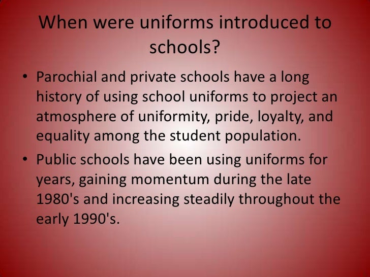 should students have to wear school uniforms essay