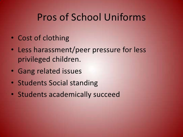 pro uniforms in school essay School uniforms essay examples 104 total results the importance of uniforms  in schools violence has been around since this world began, whether being in.