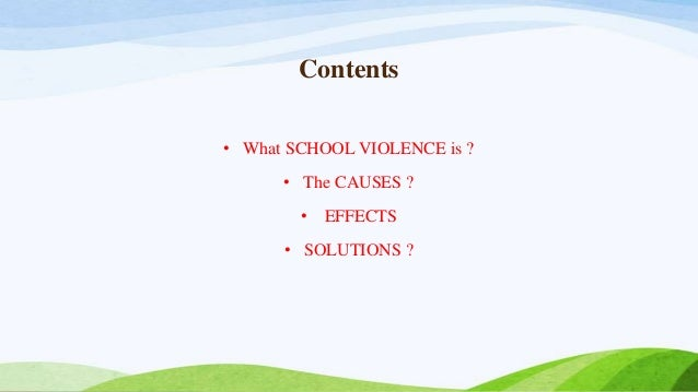 the cause and effect of violence