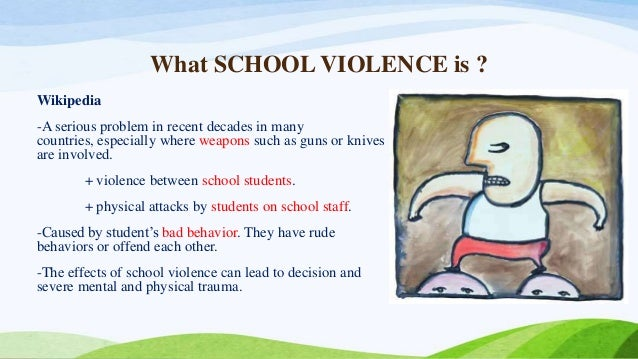 the cause and effects of violence at school The nature, causes and effects of school violence in south african high schools  causes and effects of school violence in four south african high schools.
