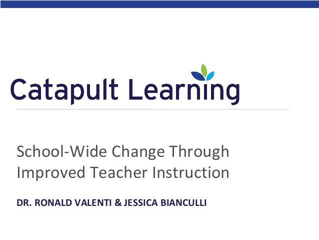 School-Wide Change Through Improved Teacher Instruction DR. RONALD VALENTI & JESSICA BIANCULLI