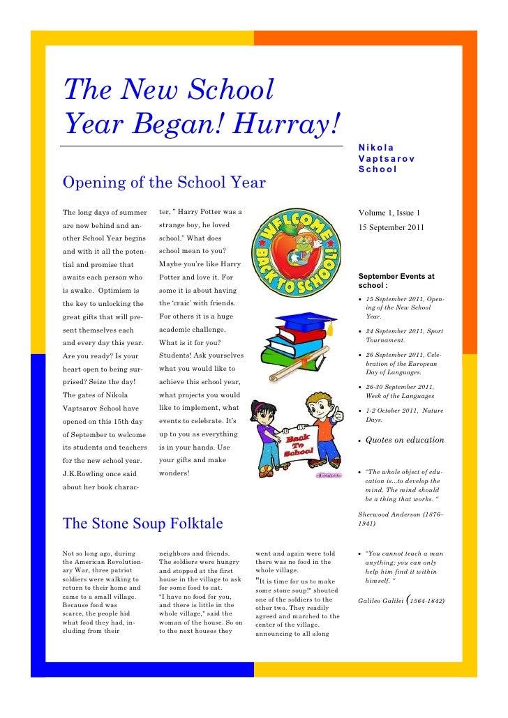 The New SchoolYear Began! Hurray!                                                                                        N...