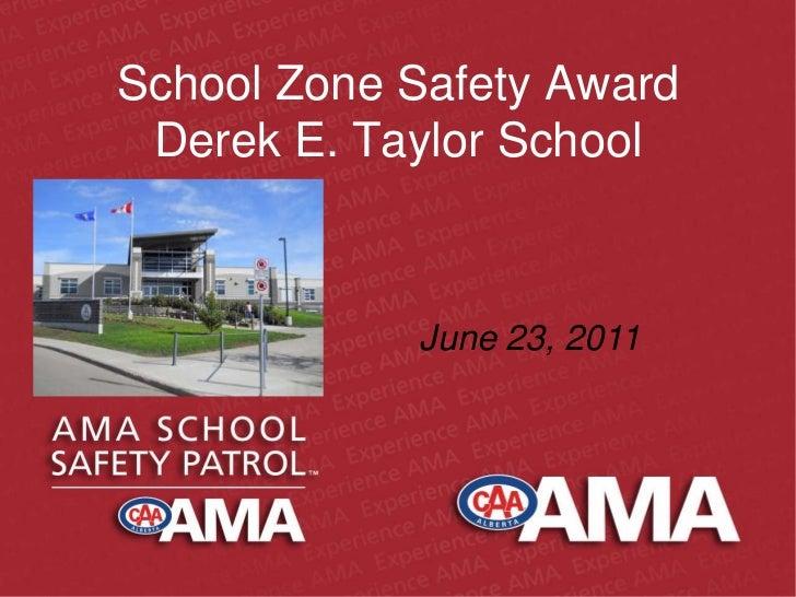 School zone safety award