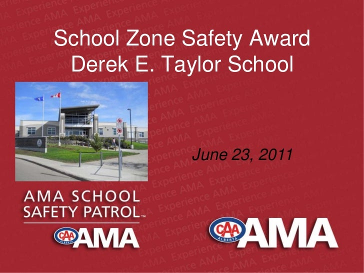 School zone safety award