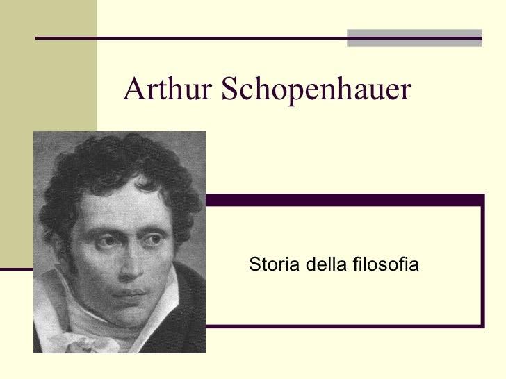 Arthur Schopenhauer Storia della filosofia