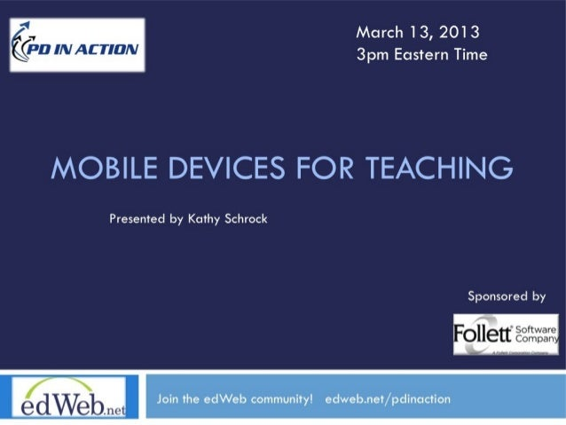 EdWeb Webinar: Mobile Devices for Teaching