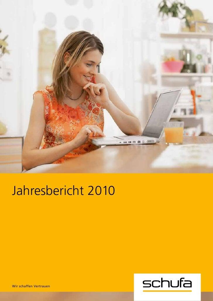 SCHUFA Jahresbericht 2010