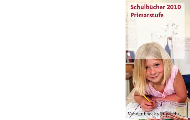 Schulbücher 2010  Primarstufe     Vandenhoeck & Ruprecht