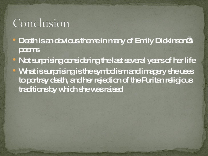 emily dickinson death essay