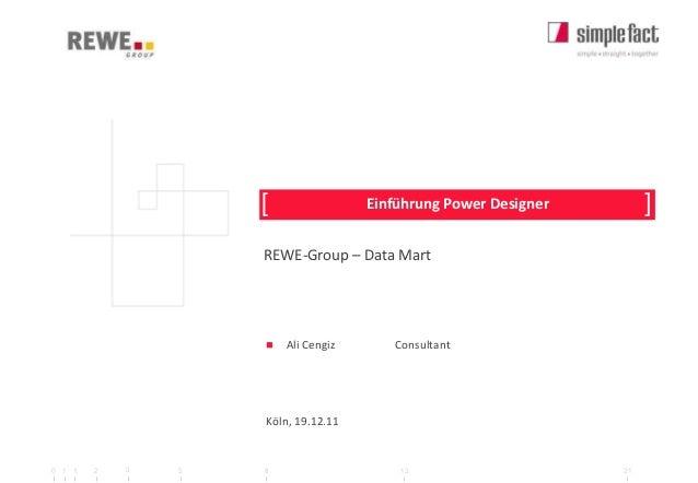 [                Einführung Power Designer        ]                    REWE-Group – Data Mart                       Ali C...