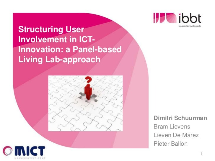 Structuring User  Involvement in ICT-  Innovation: a Panel-based  Living Lab-approach                              Dimitri...