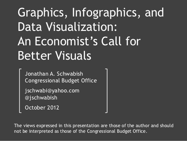 Graphics, Infographics, and Data Visualization: An Economist's Call for Better Visuals     Jonathan A. Schwabish     Congr...