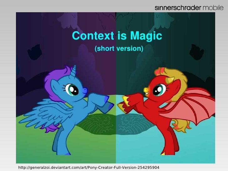 Ronan Schwarz; Context is Magic