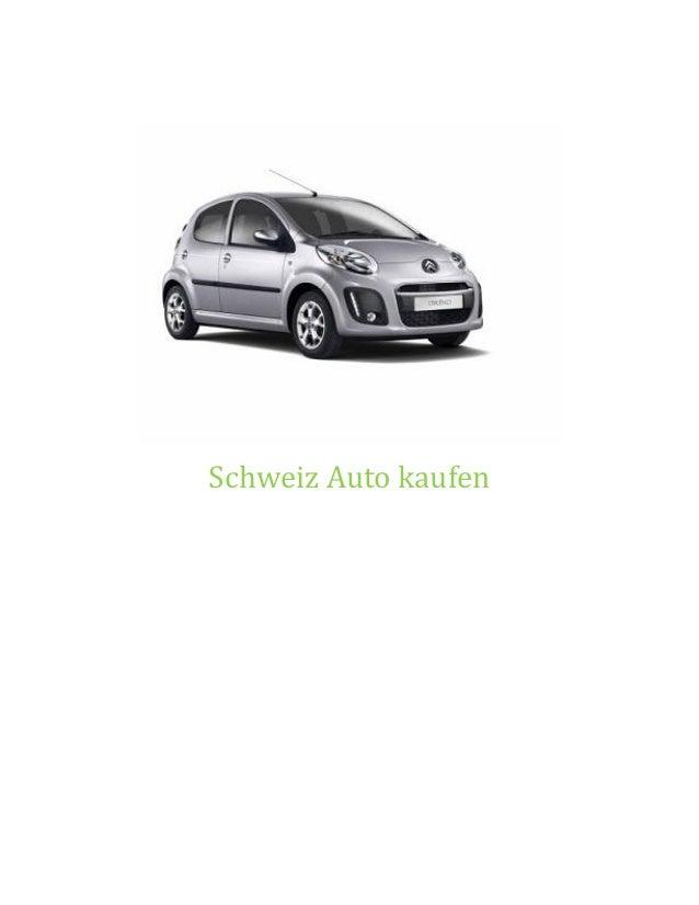 Schweiz Auto kaufen