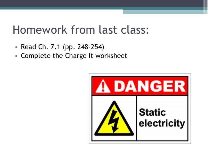 Homework from last class: <ul><li>Read Ch. 7.1 (pp. 248-254) </li></ul><ul><li>Complete the Charge It worksheet </li></ul>