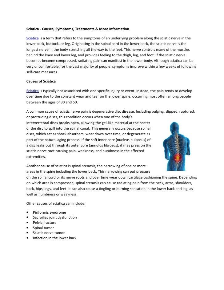 Sciatica - Causes, Symptoms, Treatments & More Information