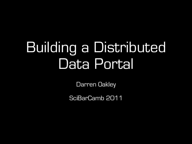 Building a Distributed Data Portal