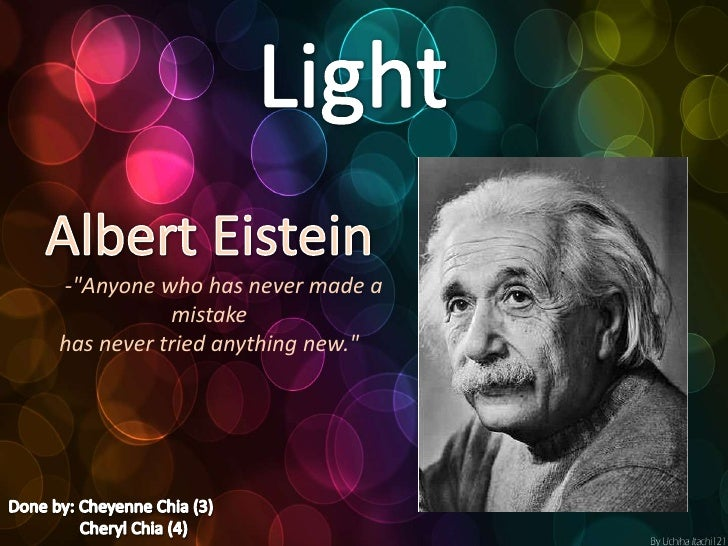 Einstein's impact on Light.