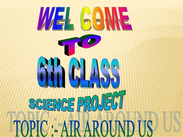 Science project on air