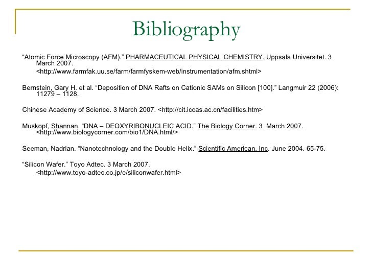 bibliography for project Overview below you will find sample annotations from annotated bibliographies, each with a different research project remember that the annotations you include in your own bibliography should reflect your research project and/or the guidelines of your assignment.