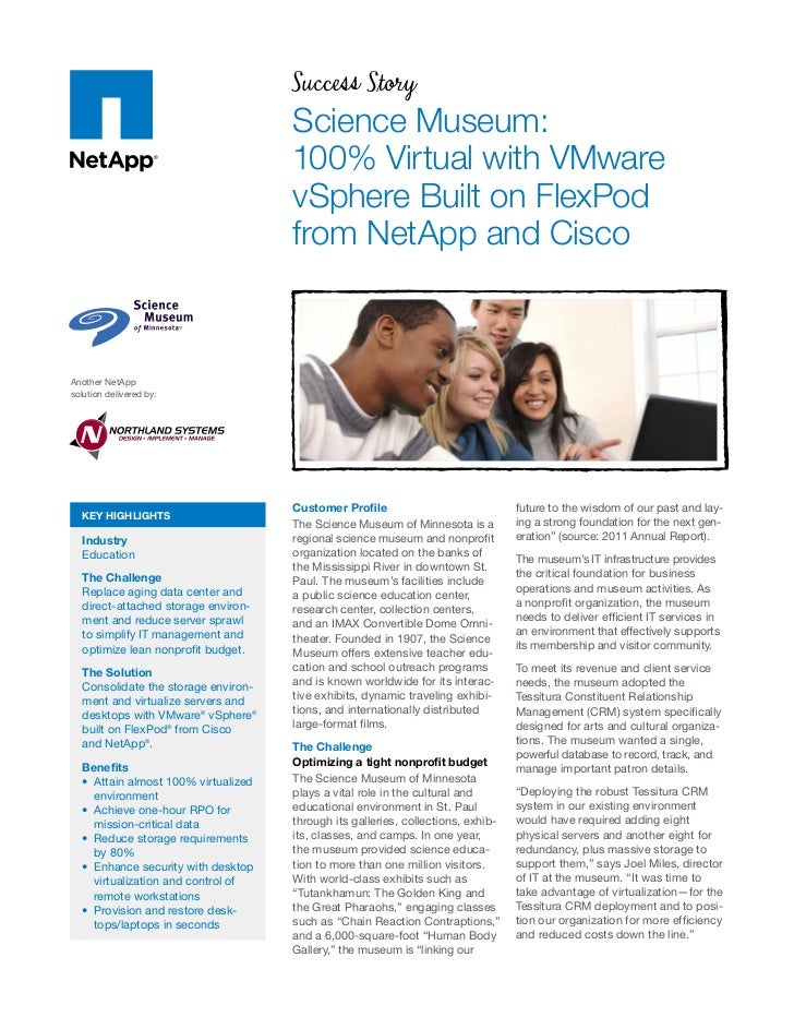 Success Story                                     Science Museum:                                     100% Virtual with VM...