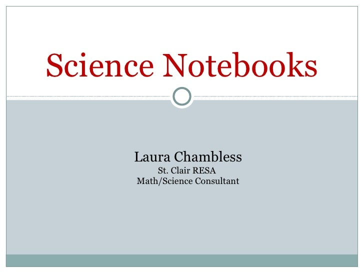 Science Notebooks Ppt