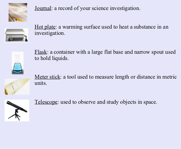Science Measuring Instruments : Science tools