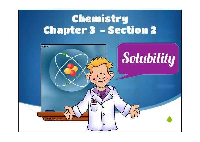 3.2 Solubility