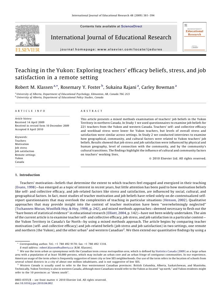 International Journal of Educational Research 48 (2009) 381–394                                                      Conte...