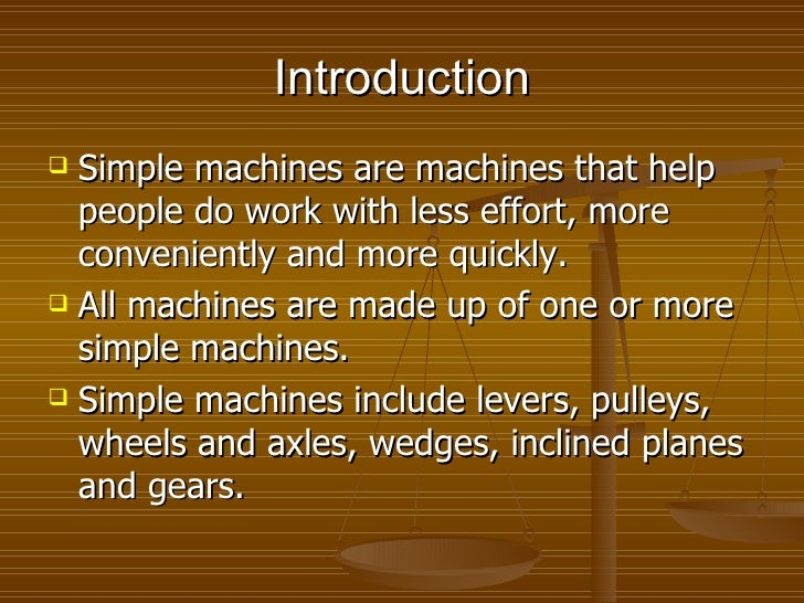 Pulleys And Gears Presentation : Simple machines