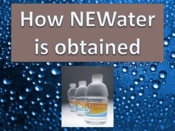 How NEWater is obtained<br />