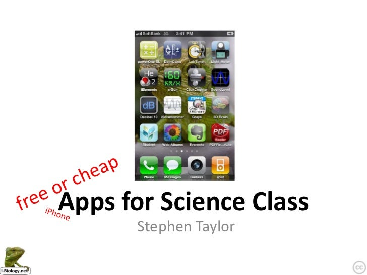 Apps for Science Class      Stephen Taylor