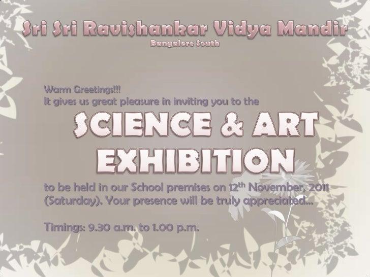 Invitation card for school science exhibition invitationswedd science art exhibition 2017 stopboris Choice Image