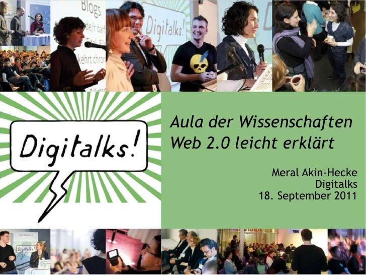 """Aula der Wissenschaften """"Web 2.0 leicht erklärt"""""""