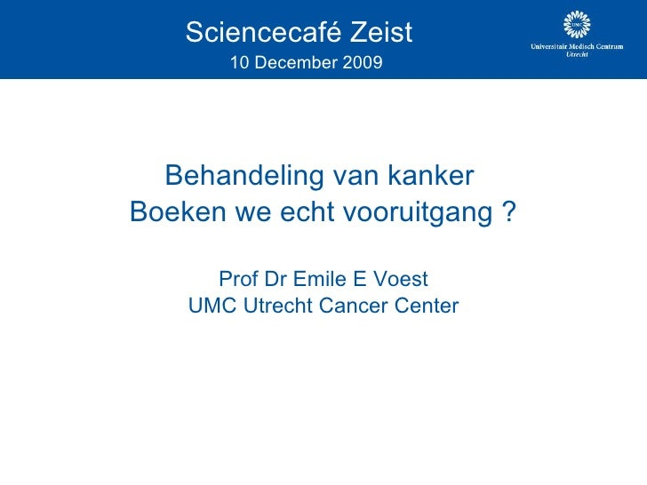 Sciencecafe Zeist 10 Dec 2009