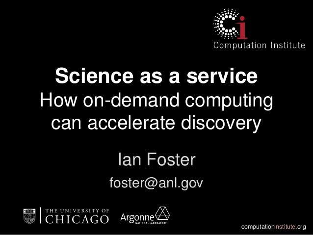 Science cloud foster june 2013