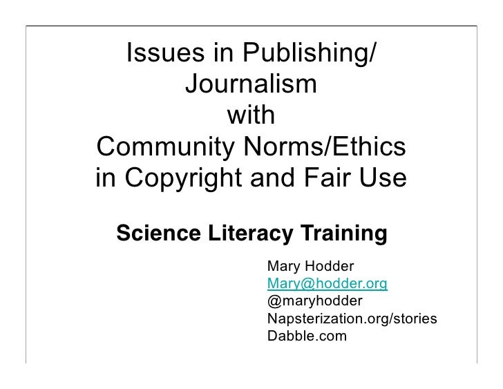 Science Copyright Talk for Science Literacy Conference