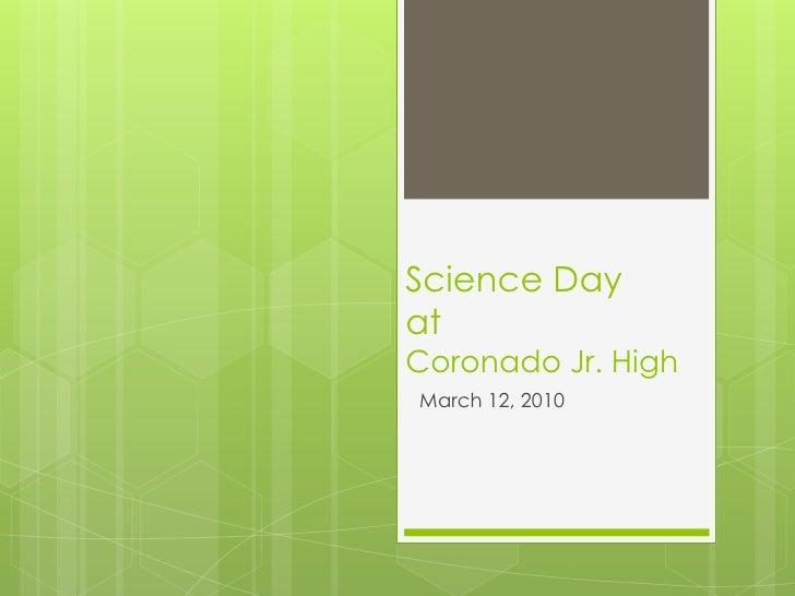 Science day at coronado jr high 2010