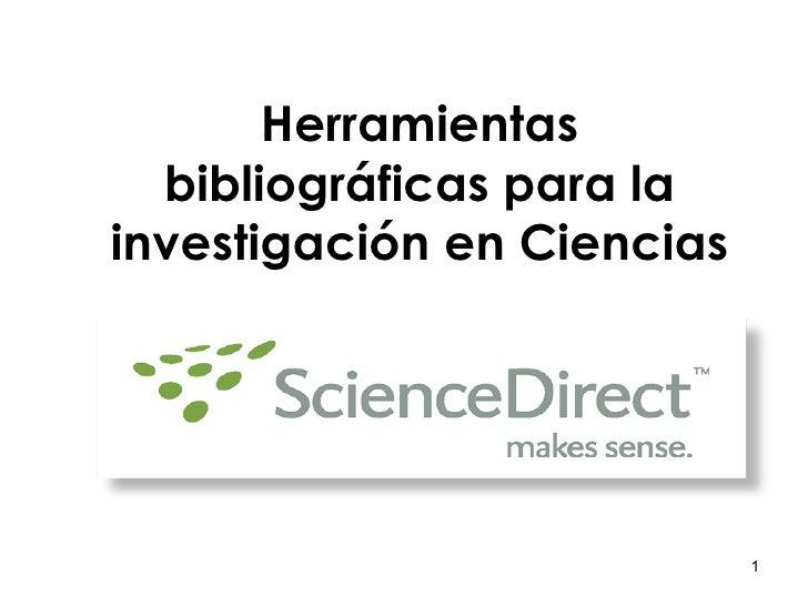 Science Direct - Base de Datos