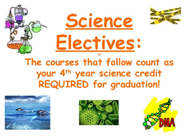 Science      Electives:               25The courses that follow count as  your 4th year science credit  REQUIRED for gradu...