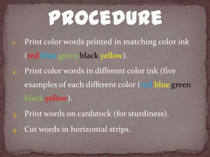the stroop effect essay