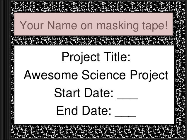 Science fair example notebook